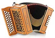 Castagnari Benny button accordion, natural finish cherry