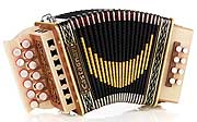 Castagnari Giordy button accordion, natural finish maple
